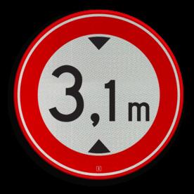 Verkeersbord RVV C19 - Gesloten voor te hoge voertuigen