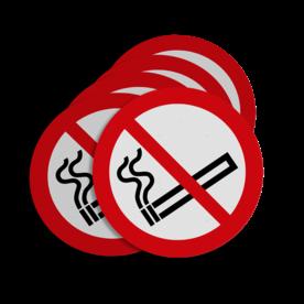 Stickerset C01_roken verboden | set van 5 stickers