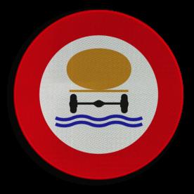 Verkeersbord België C24c - Verboden toegang voor bestuurders van voertuigen die gevaarlijke verontreinigende stoffen vervoeren