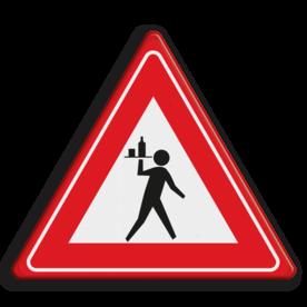 Verkeersbord overstekende ober