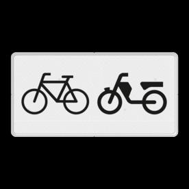 Verkeersbord RVV OB04 - Onderbord - Geldt alleen voor (brom)fietsers