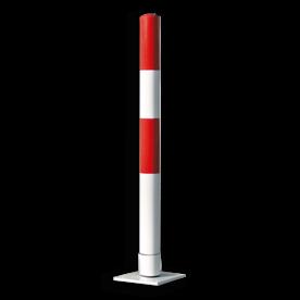 Rampaal zelfoprichtend Ø76x1000mm wit/rood of geel/zwart