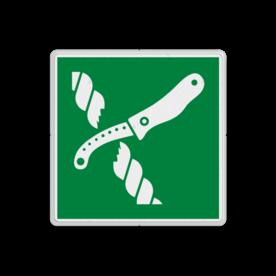Reddingsbord E035 - Mes voor reddingsvlot