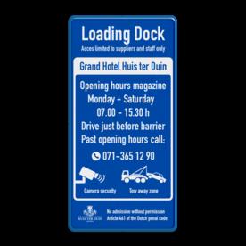 Entreebord - Loading Dock reflecterend