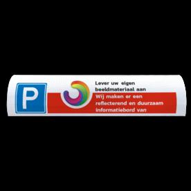 Parkeerbord t.b.v. biggenrug  - Met eigen logo of beeldmateriaal