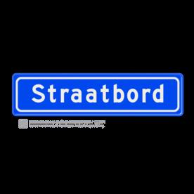 Straatnaambord 10 karakters 600x150 mm NEN 1772