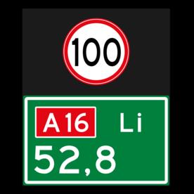 Hectometerbord BB08 + snelheid [ Li ]