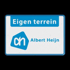 Eigen Terrein bord + Eigen logo Albet Heijn
