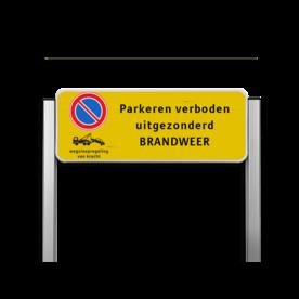 Parkeerplaatsbord unit TS6 - E01 + wsr + 800x300mm