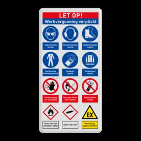 Veiligheidsbord | 12 symbolen + banners