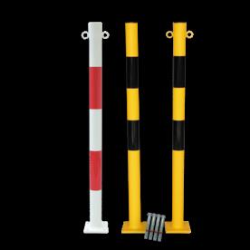 Kettingpaal Ø60x1010mm bodem-montage kettingpaal, parkeerpaal, sperringspaal, versperring, parkeerterreinafzetketting, ketting