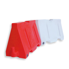 Barriër 240 ltr - 1700x800x510mm kunststof barrier, rijbaanscheiding