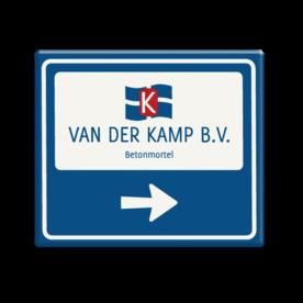 Bewegwijzering 1180x1000 VAN DER KAMP Van der Kamp, betonmortel, logo, pijlbord