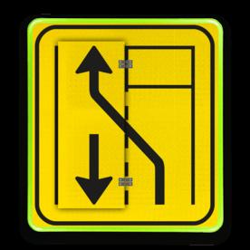 Klapbord WIU T31 - links/rechts - Rond conform RVV ersbo, snelhiedsbord, snelheidbord, 30 km bord, snelheid, zonebord, A1, boekwerkbord, klap-borden, klapperborden, boekbord