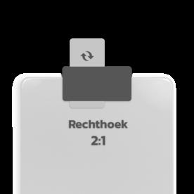 Basisbord omgezette rand - type 2:1 - rechthoek blank, blanco, onbeplakt verkeersbord, onafgewerkt bord, halffabrikaat, zelf beletteren, reclamebord, bordmodel