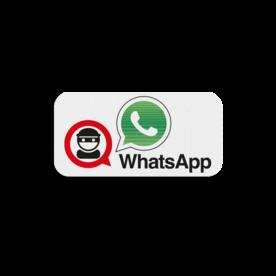 Bordsticker - WhatsApp 200x100mm - aanvulling op  - L209 buurtpreventieborden