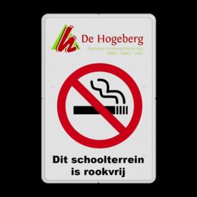 Informatiebord LOGO full-colour - roken verboden logobord, eigen ontwerp, schoolplein, speciale borden