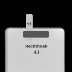 Basisbord omgezette rand - type 4:1 - rechthoek blank, blanco, onbeplakt verkeersbord, onafgewerkt bord, halffabrikaat, zelf beletteren, reclamebord, bordmodel
