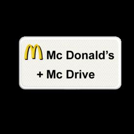 Informatiebord FC Mc Donald's logobord, eigen ontwerp, mc drive, speciale borden