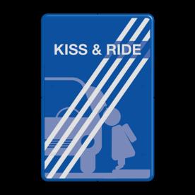 Informatiebord kiss&ride-einde FC eigen ontwerp - 90 graden kiss, ride, kiss&ride, kiss ride,k+r, eigen ontwerp, schoolplein, speciale borden,  zoen en zoef