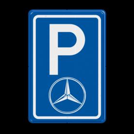 Parkeerbord type E08 automerk - Logo Mercedes stoep, parkeerplek, parkeerplaats, auto, electrisch, E8, mercedes, ster logo
