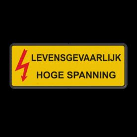 Waarschuwingsbord Aluminium - Gevaar elektriciteit  Hoogspanning, gevaarlijk, spanning, kabel, hoogspanningsmast, laagspanning