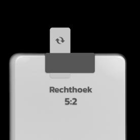 Basisbord omgezette rand - type 5:2 - rechthoek blank, blanco, onbeplakt verkeersbord, onafgewerkt bord, halffabrikaat, zelf beletteren, reclamebord, bordmodel