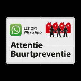 Verkeersbord OV0495 WhatsApp Buurtpreventie - 03 buurt preventie, attentie