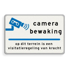Verkeersbord Eigen tekst - camerabewaking - Bosch Nefit Verkeersbord 600x400mm camera_txt Bosch-Nefit camera