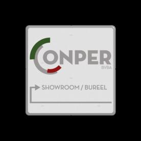 Informatiebord vierkant FC - Conper Foods BVBA logo, conper