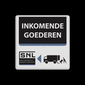 Tekstbord wit/zwart/blauw SNL zelf tekstbord maken, tekst invoeren, verkeersbord, onderbord