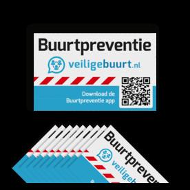 Veiligebuurt.nl - Stickerset - Buurtpreventie Reflecterend ( 10 stuks ) preventie, attentie