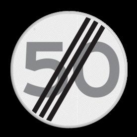 Verkeersbord Einde maximum toegestane snelheid 50 kilometer per uur Verkeersbord RVV A02-00 vrij invoerbaar - Einde maximum snelheid A02-050 snelhiedsbord, snelheidbord, km bord, snelheid, einde, km per uur, 50 kilometer per uur, A2, maximumsnelheid, maximum snelheid, maximalesnelheid, maximale snelheid