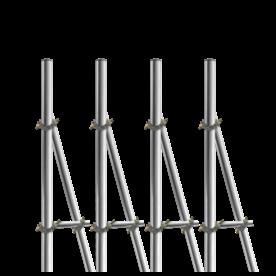 Opstelunit A04 buispaal 4500mm boven maaiveld - compleet paal, bevestigen, vastmaken, buispaal, palen, verkeersbordpaal, bordpaal