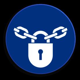 Veiligheidspictogram - Afsluiten verplicht - M028 NEN7010, veiligheidspictogram