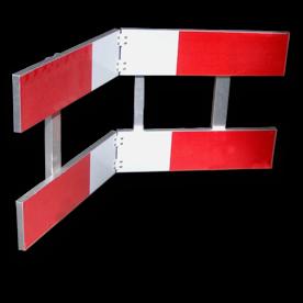 Afzethek KLAPBAAR EZ klasse III rood/wit geledebaak, baken, hek, afzethek, planken, afzetmateriaal