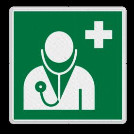 Veiligheidspictogram - Arts eerste hulp - E009 Arts, eerste hulp, EHBO