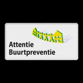 Verkeersbord L209c Attentie Buurtpreventie - 02 L209 Whats App, WhatsApp, watsapp, preventie, attentie, OV0495, L209, Buurt
