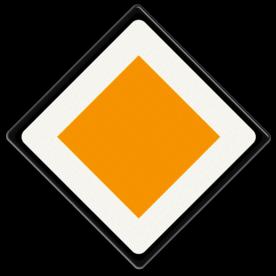 Verkeersbord U rijdt op een voorrangsweg Verkeersbord RVV B01 - Voorrangsweg B01 voorrangsweg, oranjebord, voorrang, vierkant bord, B1