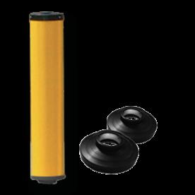 Vluchtheuvelbaken D-BB22 ALUMINIUM + dekselset ø48/48 BM21, vluchtbaken, gele zuil, middenberm, middengeleider, BM18, bm 18