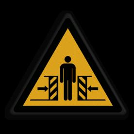 Veiligheidspictogram Beklemmingsgevaar Veiligheidspictogram - Pas Op! voor bekneld raken - W019 Klem