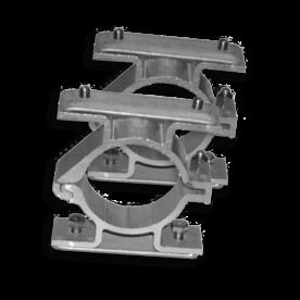 Bordbeugel dubbelzijdig (set 2 stuks) Ø48 mm - rug-rug montage bordbeugel ø48, flespaal, scharnierbeugel, dubbel