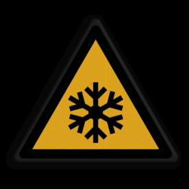 Product Bevriezingsgevaar Veiligheidspictogram - Waarschuwing Bevriezingsgevaar - W010 Bevriezing, bevroren, bevries, gevaar, vriezen, vries, koud