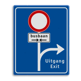 Informatiebord RVV L10-C01 Routebord busbaan, uitgang