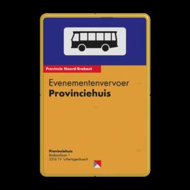 Bushaltebord 400x600mm full-colour - eigen ontwerp bushalte, haltebord, bus
