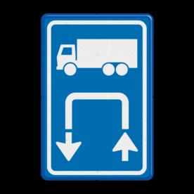 Inritbord Gelegenheid om te keren op terrein / Inritborden op boerenerven verbeteren verkeersveiligheid aanzienlijk Inritbord BT15l - vrachtwagens linksom BT15l Parkeren, keren op eigen terrein, niet keren op de openbare weg, E8, E08, E08cv, Inritbord, Inrit, vrachtwagens, Keren, Linksom