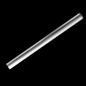 Buispaal Ø48x1500 mm boven maaiveld ALUMINIUM + afdekkap zonder ankergaten paal, bevestiging