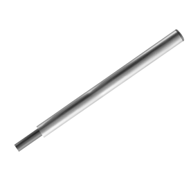 Verkeersbord-buispaal 1800mm Aluminium + adapter voor parasolvoet paal, bevestigen, vastmaken, buispaal, palen, verkeersbordpaal, bordpaal