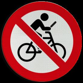 Verkeersbord Niet appen of bellen tijdens het fietsen Verkeersbord - Niet appen op de fiets verbod, appen, fietsen, niet, toegestaan,