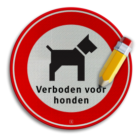 Informatiebord Verboden hond uit te laten Informatiebord hond C + tekstregel niet poepen, verboden voor honden, hondentoilet, dierhondepoep, niet poepen, hondepoepbordjes, hondestront, hondenborden, hondenverbod